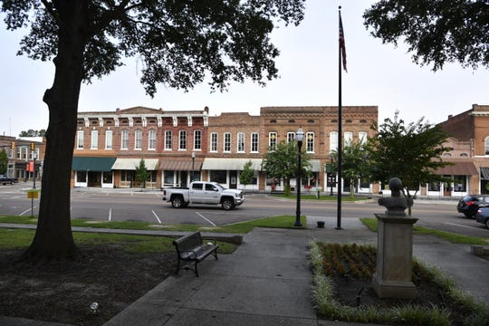 Downtown Bolivar, Tennessee, pictured here in 2018, was beginning to see new restaurants and other businesses appear in the heart of one of the state's most economically distressed counties. But the coronavirus outbreak could cripple that economic momentum.