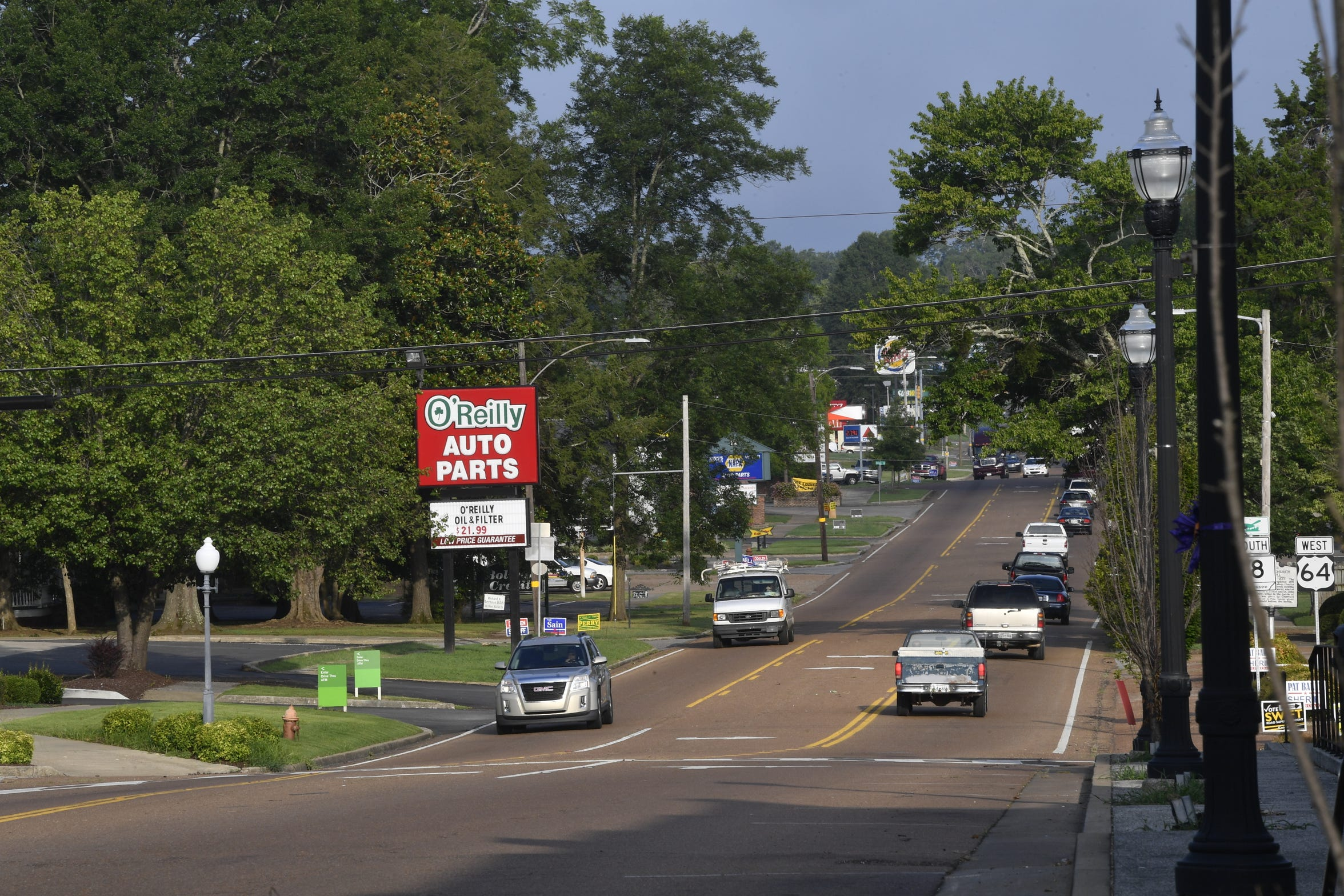 Traffic is light just off the square in Bolivar in Hardeman County Tuesday July 17, 2018, in Bolivar, Tenn.