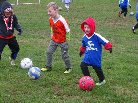 Dave Dernberger has overseen the Hebron Area Soccer Association's beginner U6 Division for nearly 20 years. The division has more than 40 kids participating this fall.