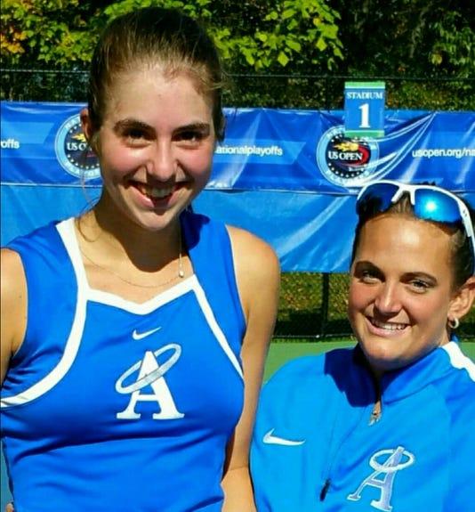 Ashley Hess and coach Jess Leto