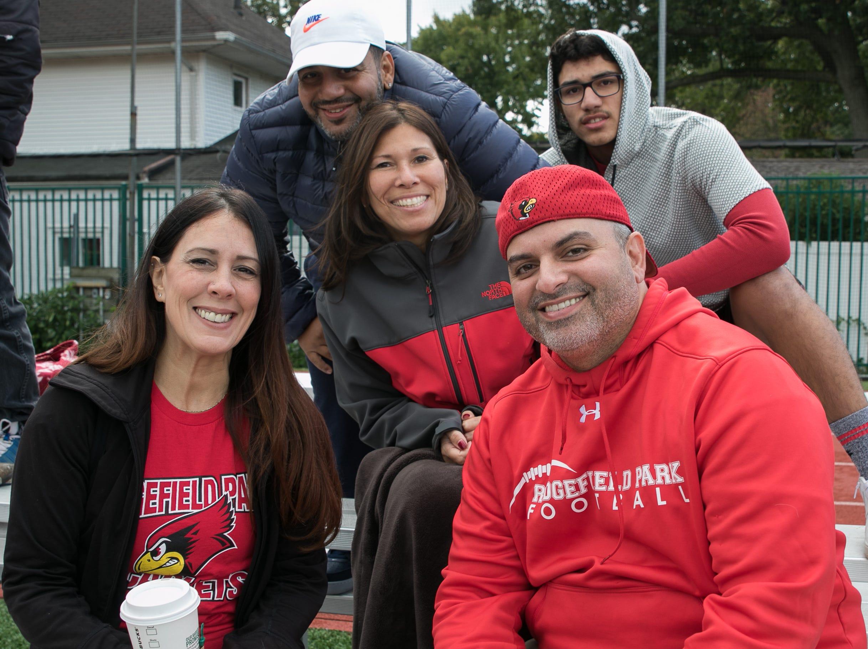 Fans at the Ridgefield Park High School versus Cliffside Park High School football game at Cliffside Park High School. 10/13/2018