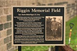 Re-dedication of Riggin Field takes place in East Rutherford on 10/14/18.