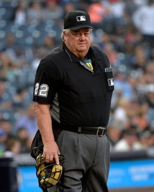 Major League umpire Joe in 2018 regular season