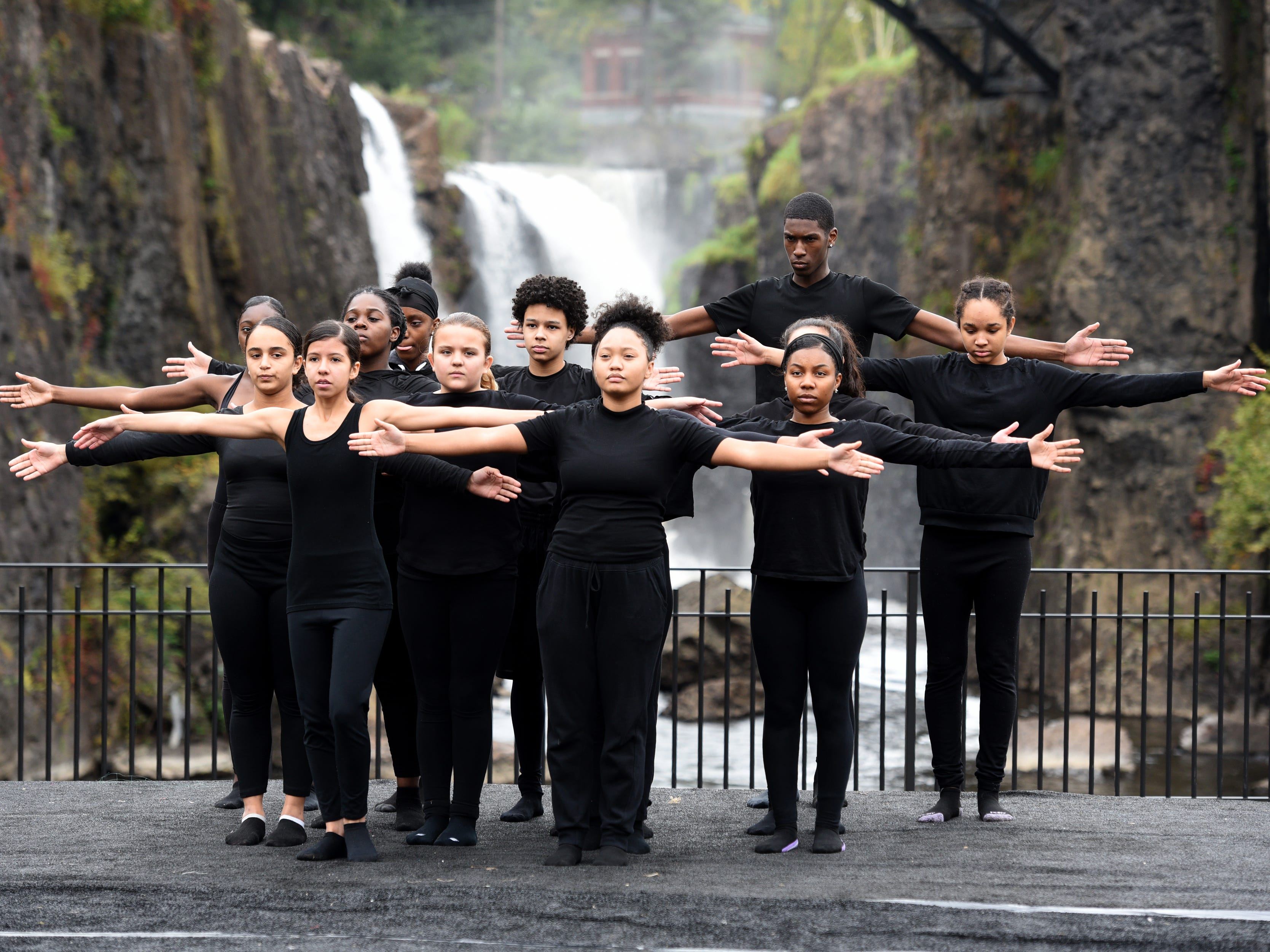 The 2018 Art in the Park Showcase was held in Overlook Park, located at the Paterson Great Falls National Historical Park on Sunday, October 14, 2018. The Inner City Ensemble, a dance and theater program from Paterson, performs in the showcase.