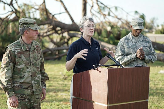 U.S. Air Force senior leadership describes conditions and plans for restoration at Tyndall Air Force Base in the wake of Hurricane Michael.
