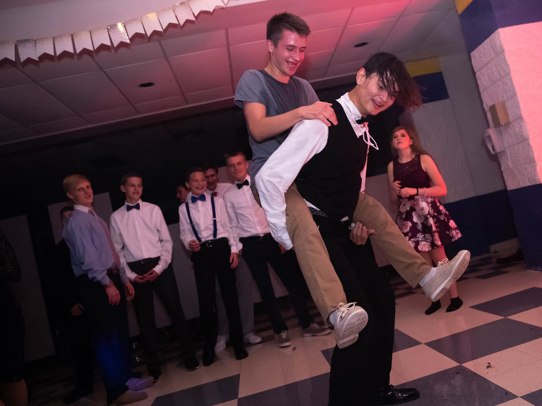 Littlestown High School students attend their homecoming dance, Saturday, Oct. 13, 2018, at Littlestown High School.