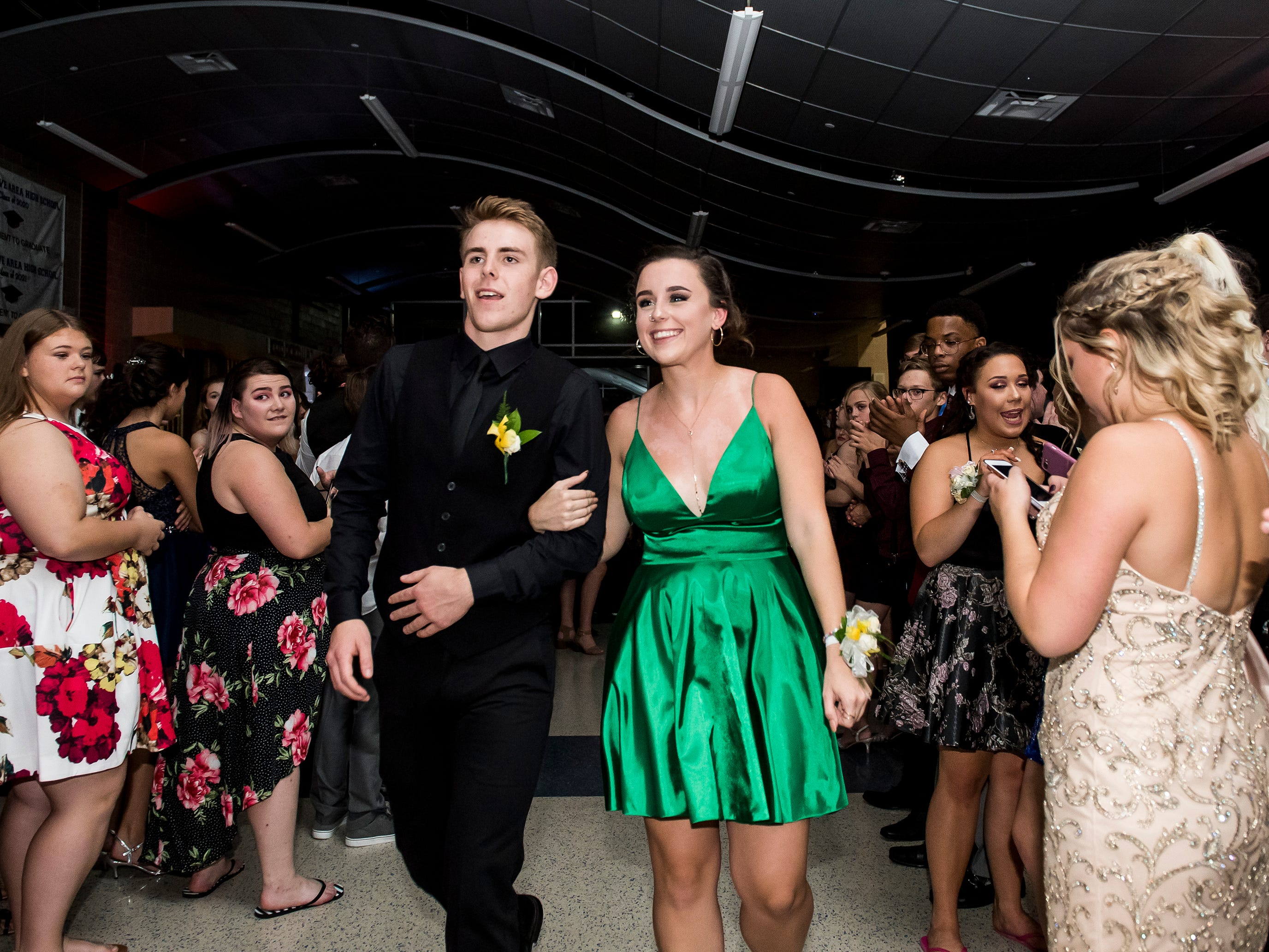 Students attend Spring Grove Area High School's homecoming dance on Saturday, October 13, 2018.