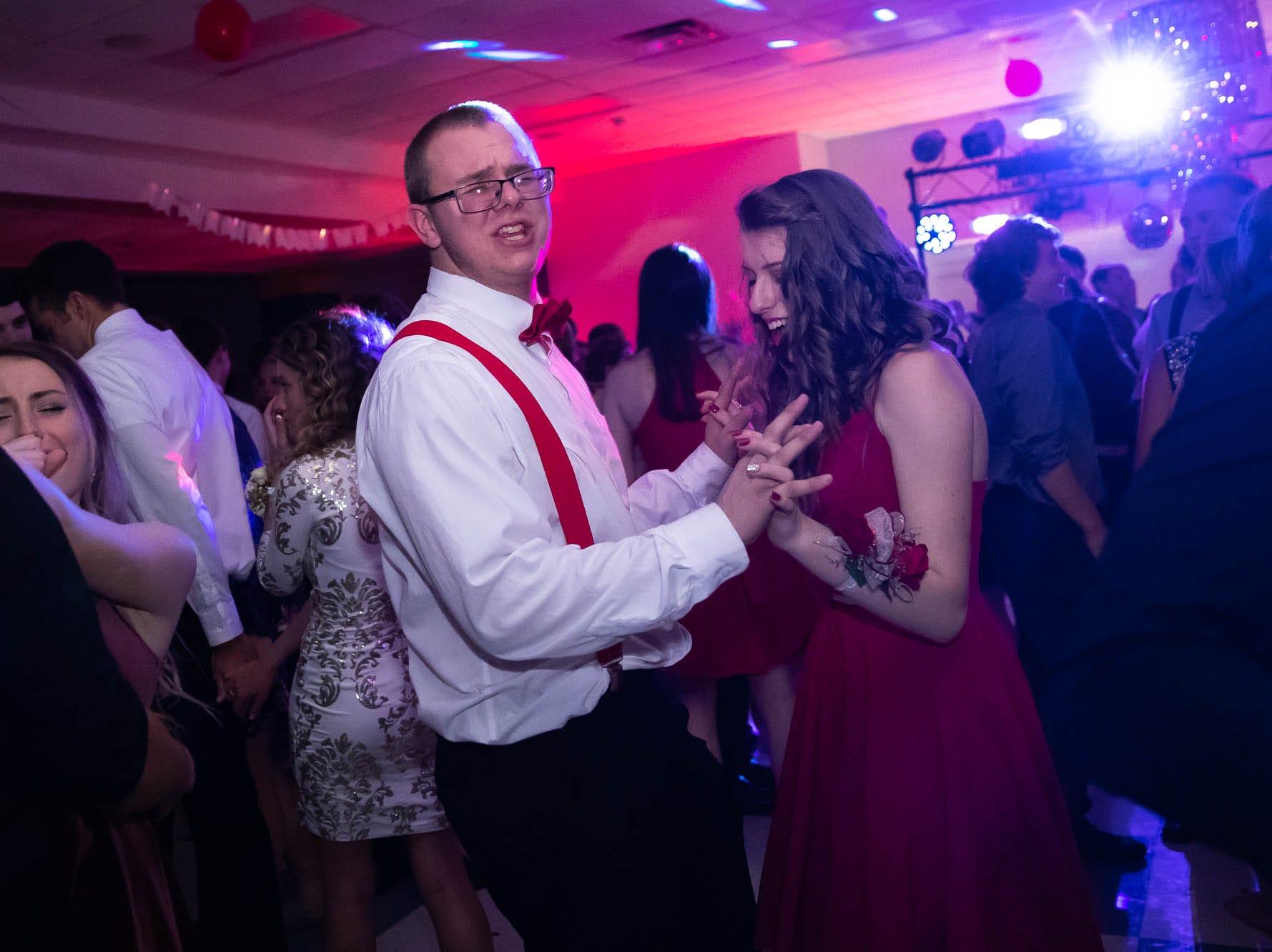 Littlestown High School students attend their homecoming dance, Saturday, Oct. 13, 2018, at Littlestown High School.