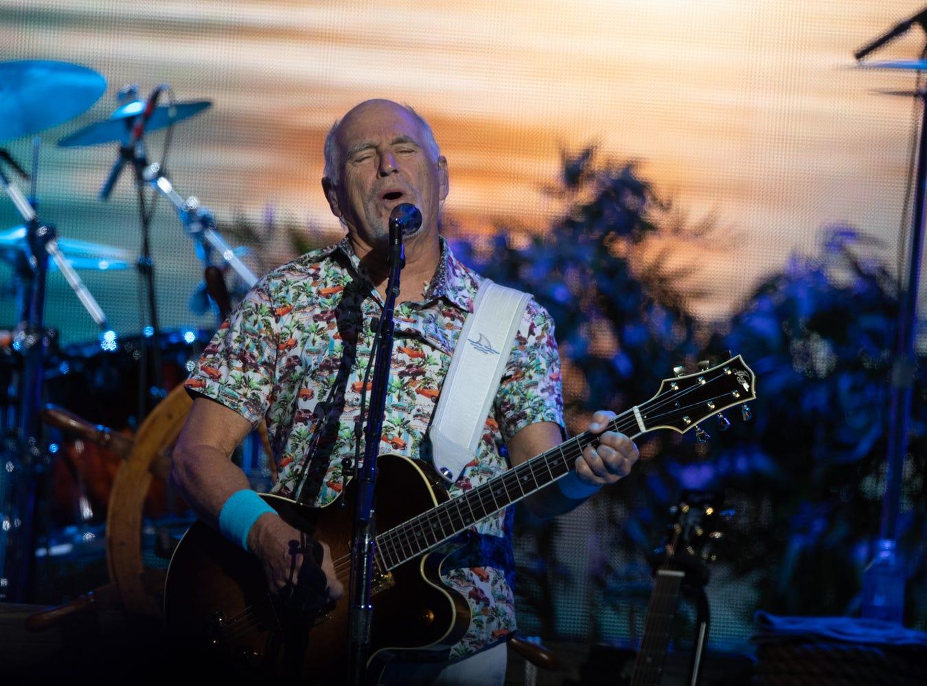 Jimmy Buffett performs at Talking Stick Resort Arena on Saturday, Oct. 13, 2018 in Phoenix.