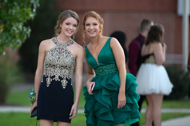 Students enjoy homecoming at Dover High School on Saturday, Oct. 13, 2018.