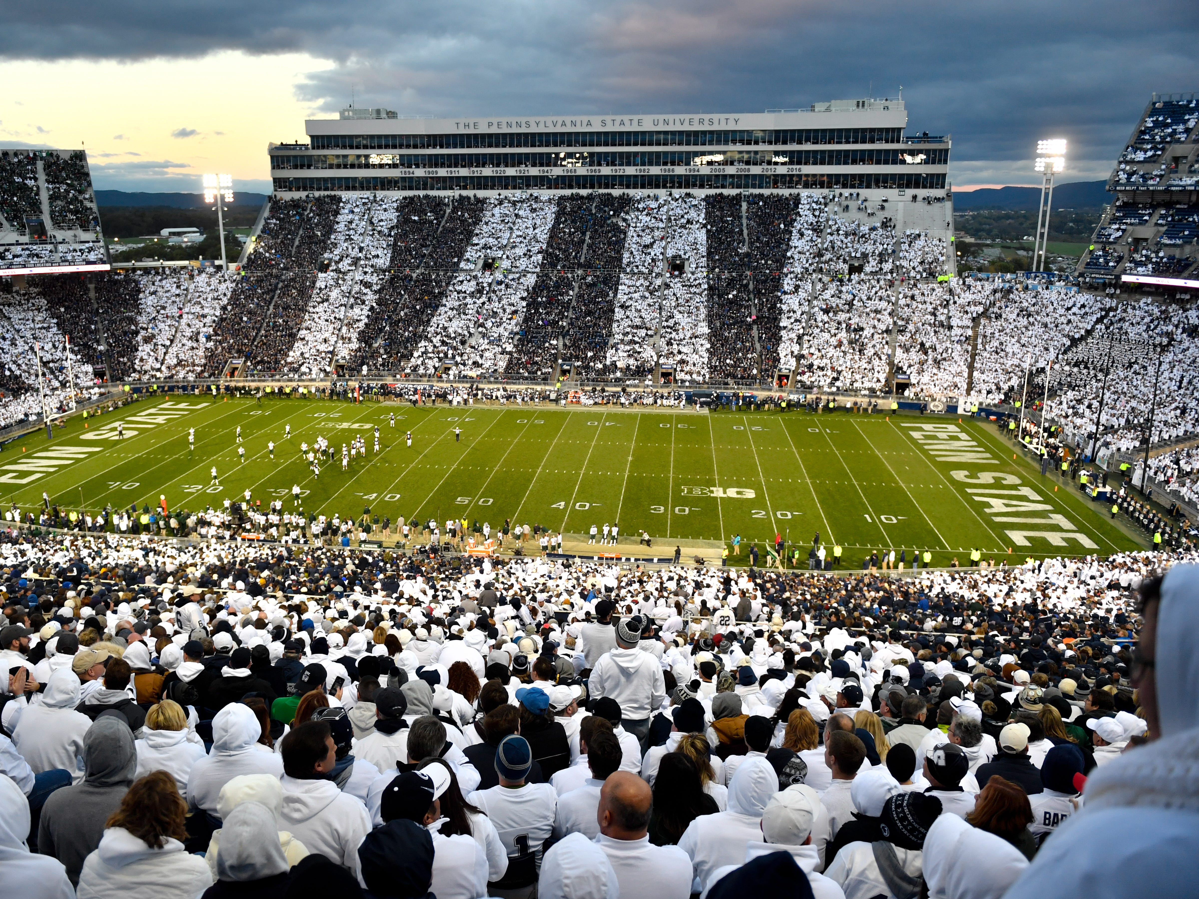 """The Penn State Homecoming game was a """"strip-out"""" against Michigan State, October 13, 2018. The Nittany Lions fell to the Spartans 17-21."""
