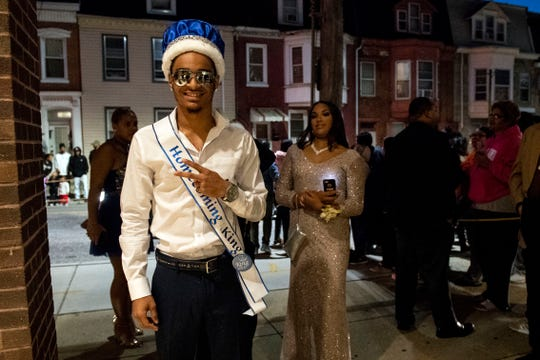 Students arrive at William Penn High School for its homecoming dance on Saturday, Oct. 13, 2018.