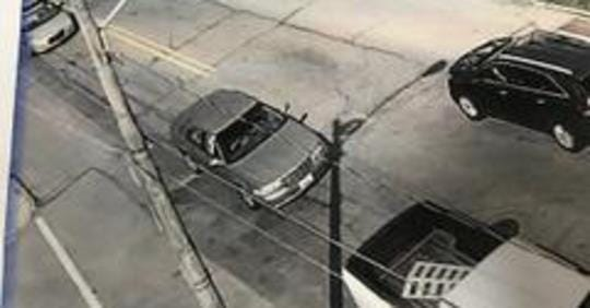 Southwestern Regional Police are looking for this hit-and-run vehicle, described as a gold or brown Cadillac or Buick, possibly with a Maryland registration.