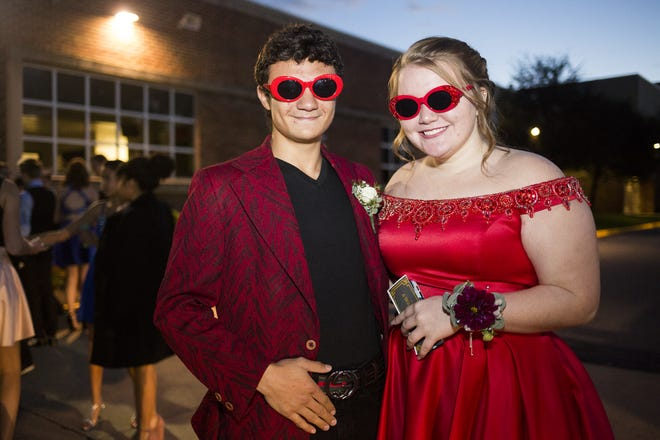 Students arrive at Susquehannock High School in Shrewsbury Township for the school's homecoming dance, Saturday, October 13, 2018.