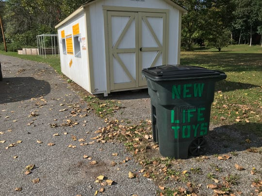 New Life Toys has a collection bin at Parkminster Presbyterian Church, 2710 Chili Ave., Chili.
