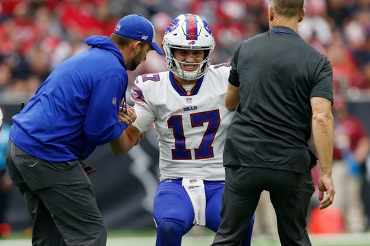 Josh Allen's elbow injury could keep the Bills rookie QB sidelined for weeks.