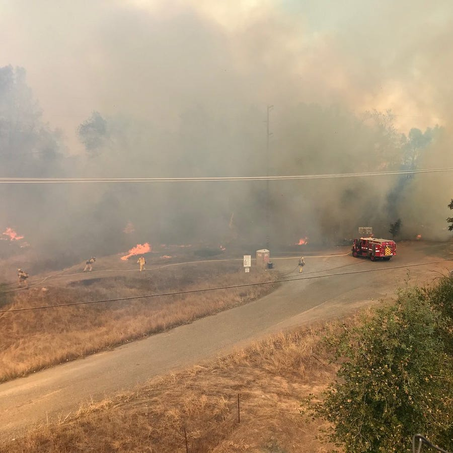 UPDATE: 'Shaky containment' on Masonic Fire as it grows to 38 acres