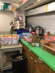 McKay's Athletic Booster Club President Becky Bryant believes at least 10 cases of chips and 3 large candy bins were stolen after the concession stand break-in overnight Friday.