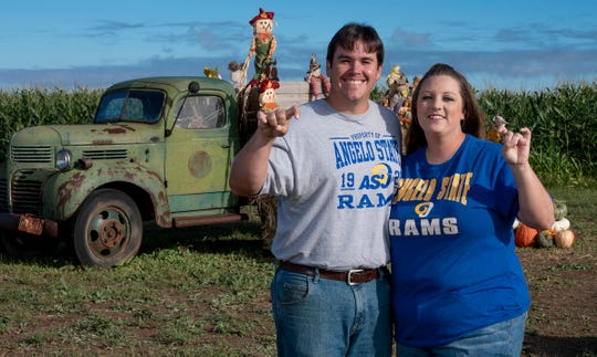 Angelo State University alumni Chad and Lindsey Shaertl started the Circle S Corn Maze and Pumpkin Patch in 2016.