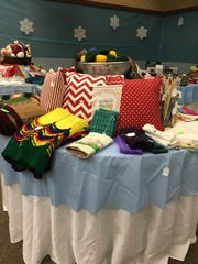 "Handcrafted items at Westminster Presbyterian Church's ""Once Upon a Holiday"" Bazaar."