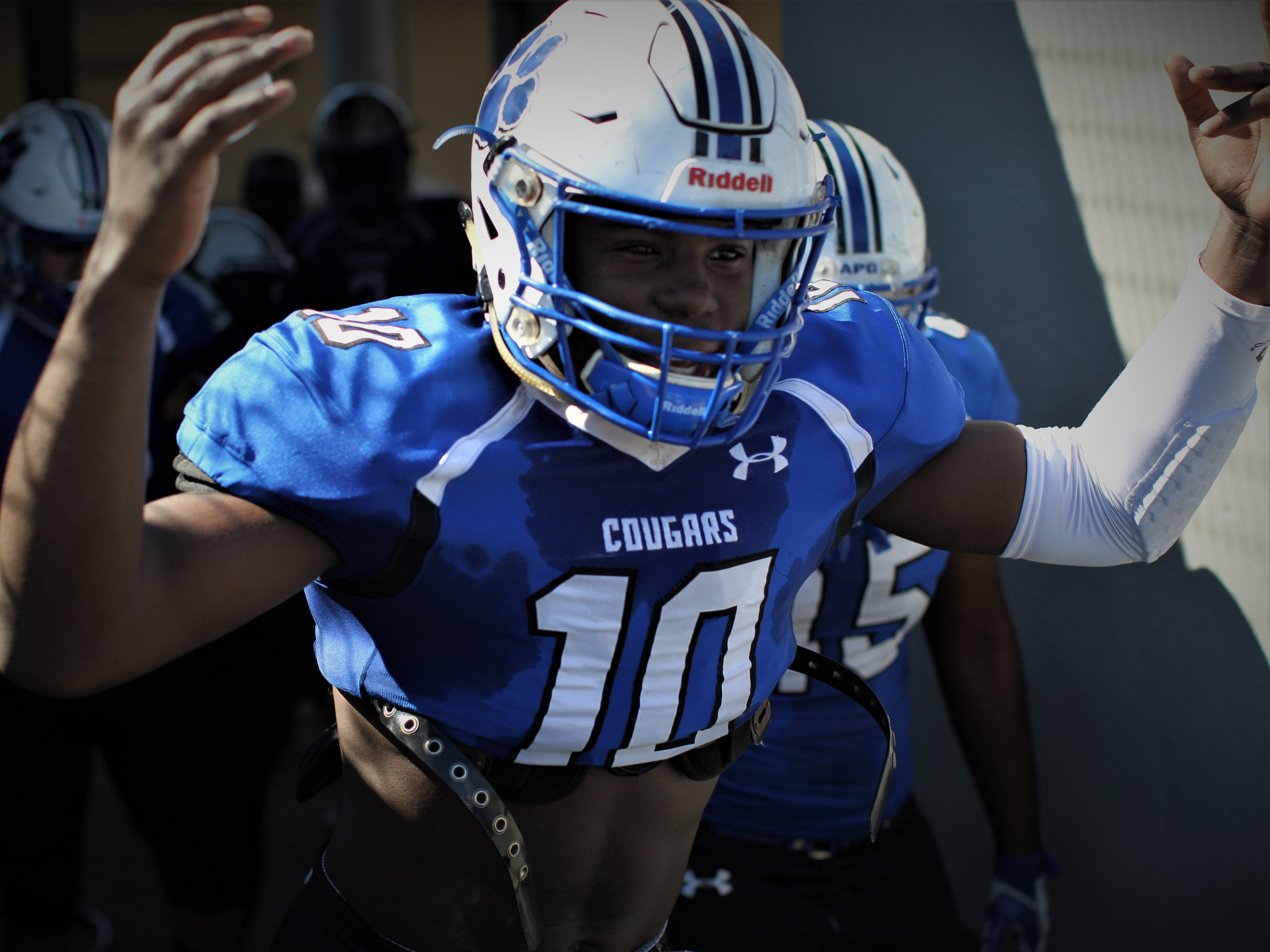 Godby's Cortez Andrews gets hyped before playing Rickards.
