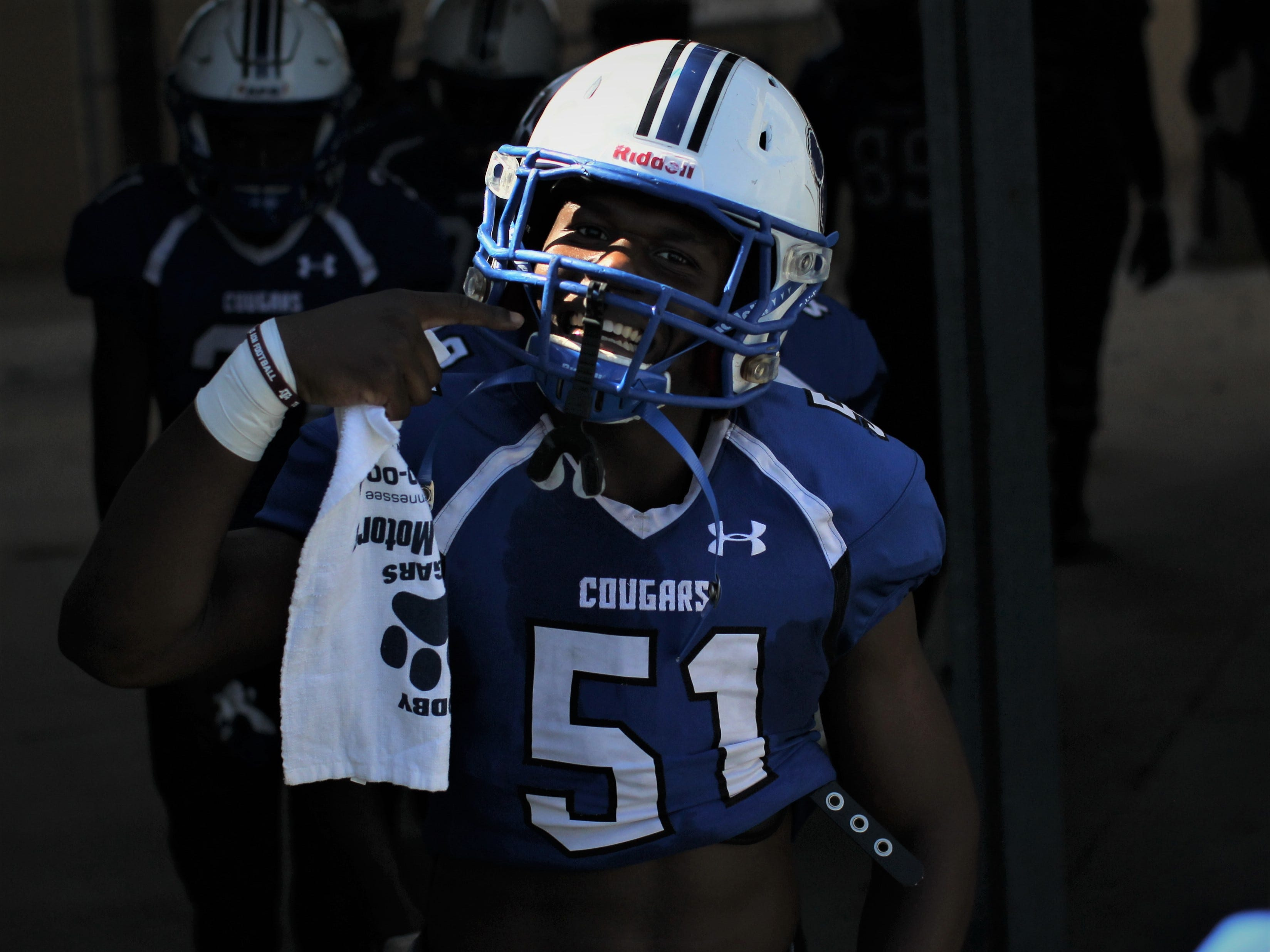 Godby's Malcolm Small gets hyped before playing Rickards.