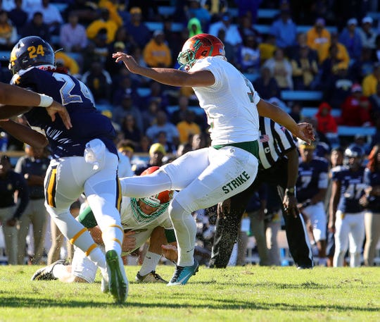 FAMU's Yahia Aly hit a 22-yard field goal with four seconds on the clock to clinch a 22-21 win over No. 10 N.C. A&T.