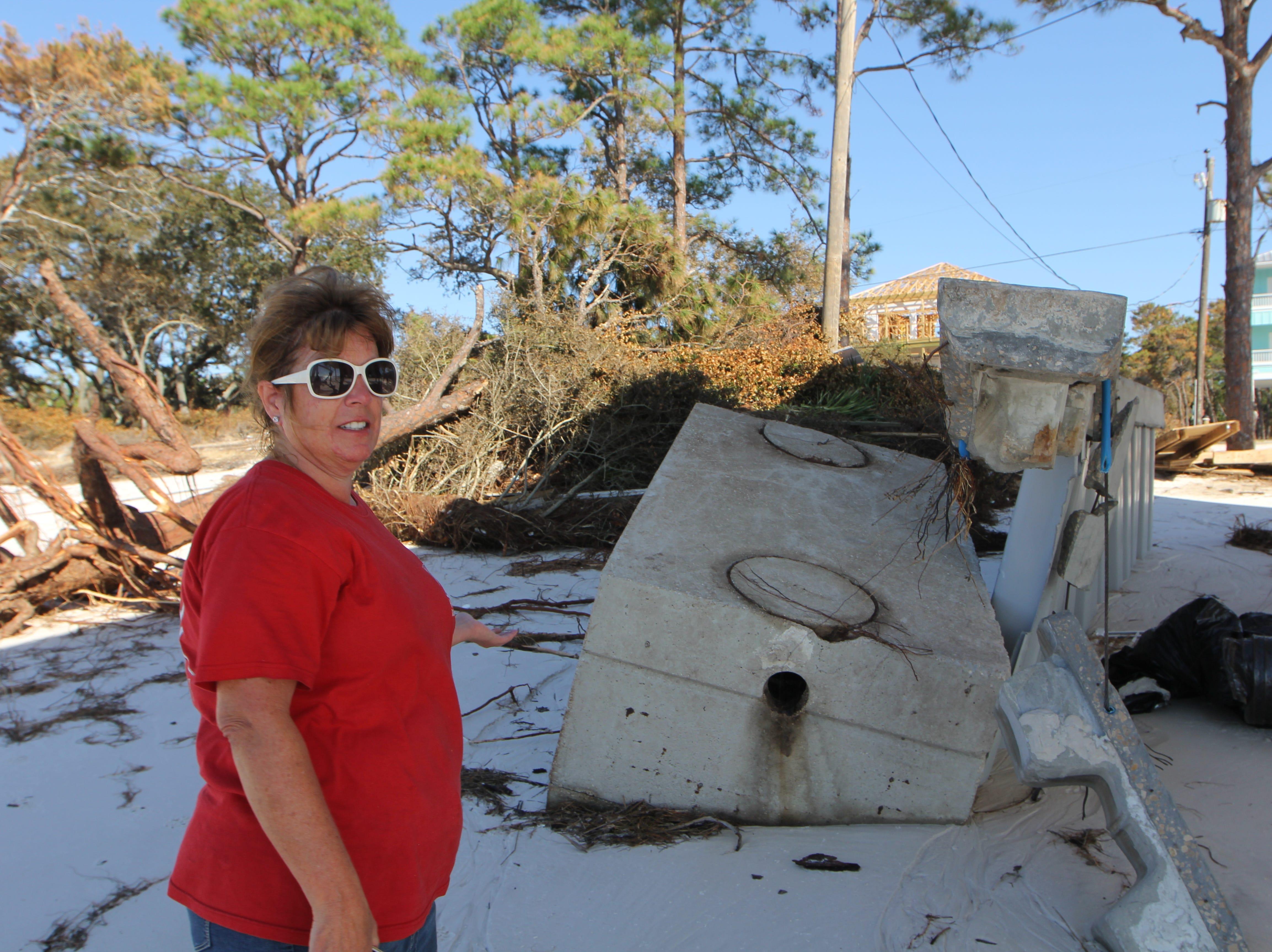 Tonia McNabb's house on Alligator Point sustained major damage during Hurricane Michael.