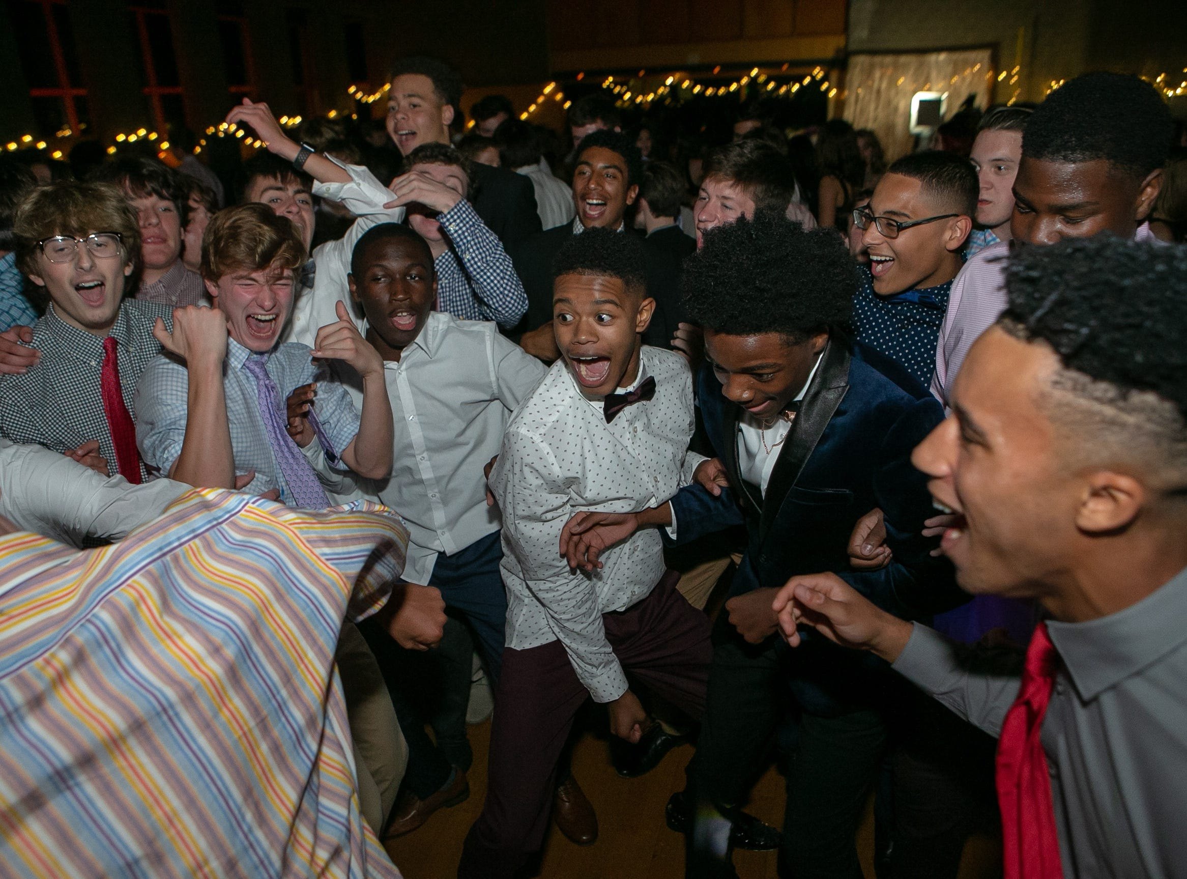 Over 200 students from The Tatnall School celebrate their homecoming dance Saturday night, October 13, 2018.
