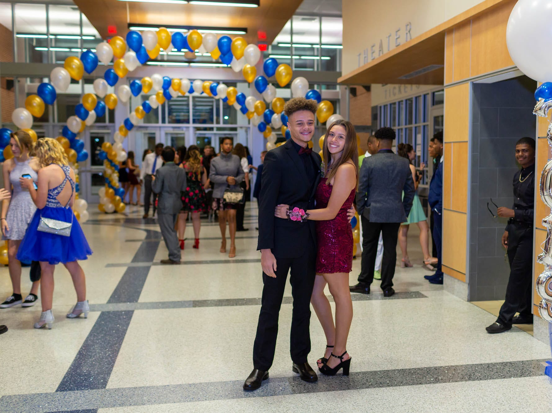 Students attend the Dover High School homecoming dance Saturday, Oct. 13, 2018 at the school.