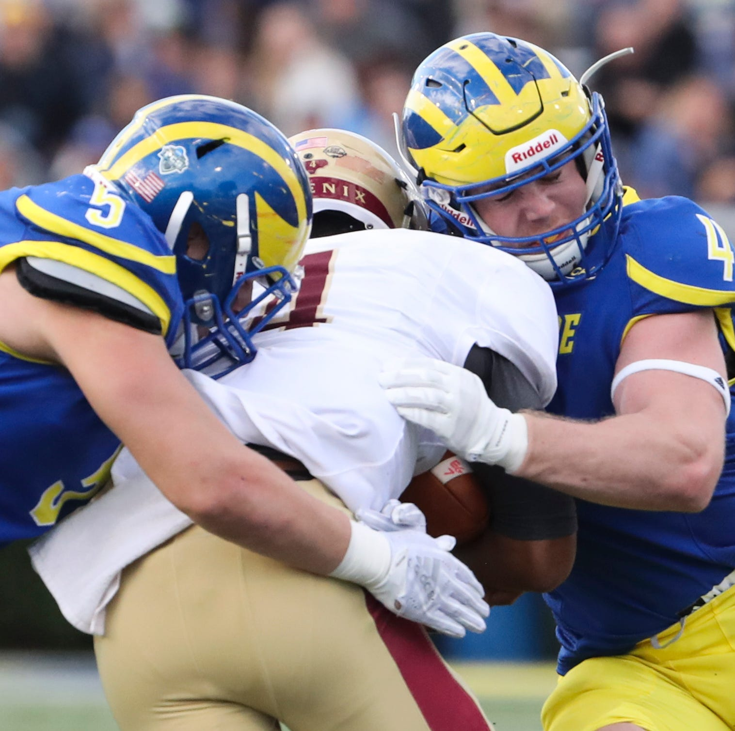 Colby Reeder overcomes early back trouble to excel for University of Delaware defense