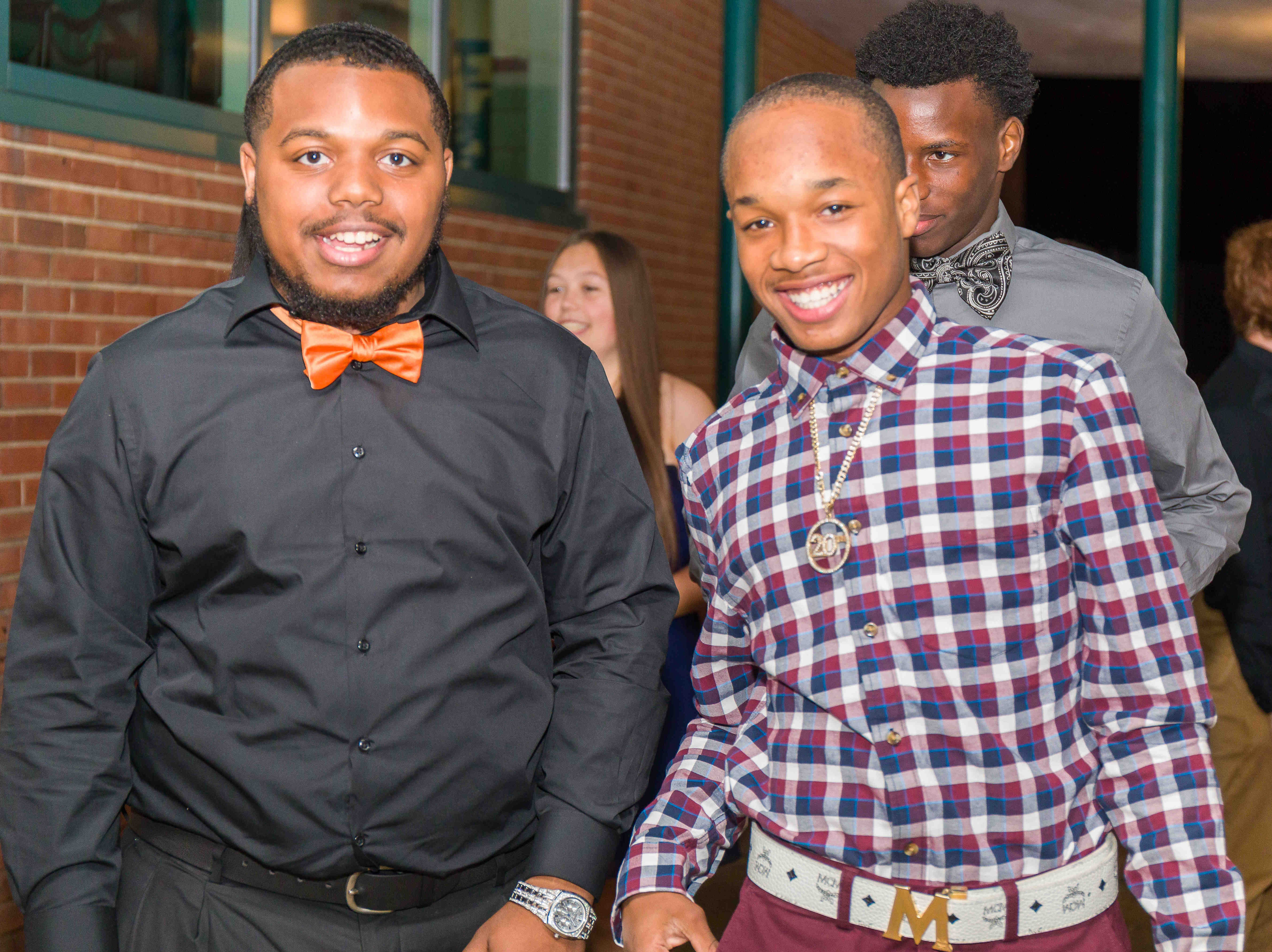 Students arrive at the Mount Pleasant Homecoming dance Saturday, Oct. 13, 2018, at the school.