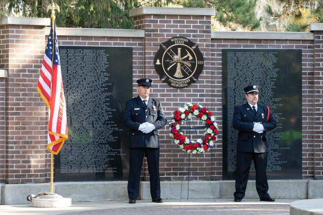 Fallen firefighters from Wisconsin were honored during the annual Final Alarm and Roll Call Ceremony on Saturday, Oct. 13, 2018, at the Wisconsin State Firefighters Memorial in Wisconsin Rapids. This year's ceremony will take place 3:33 p.m. Saturday.