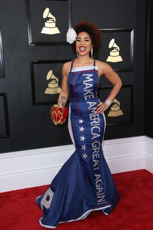 Joy Villa at the 59th Annual Grammy Awards at Staples Center in Los Angeles on Feb. 12, 2017.