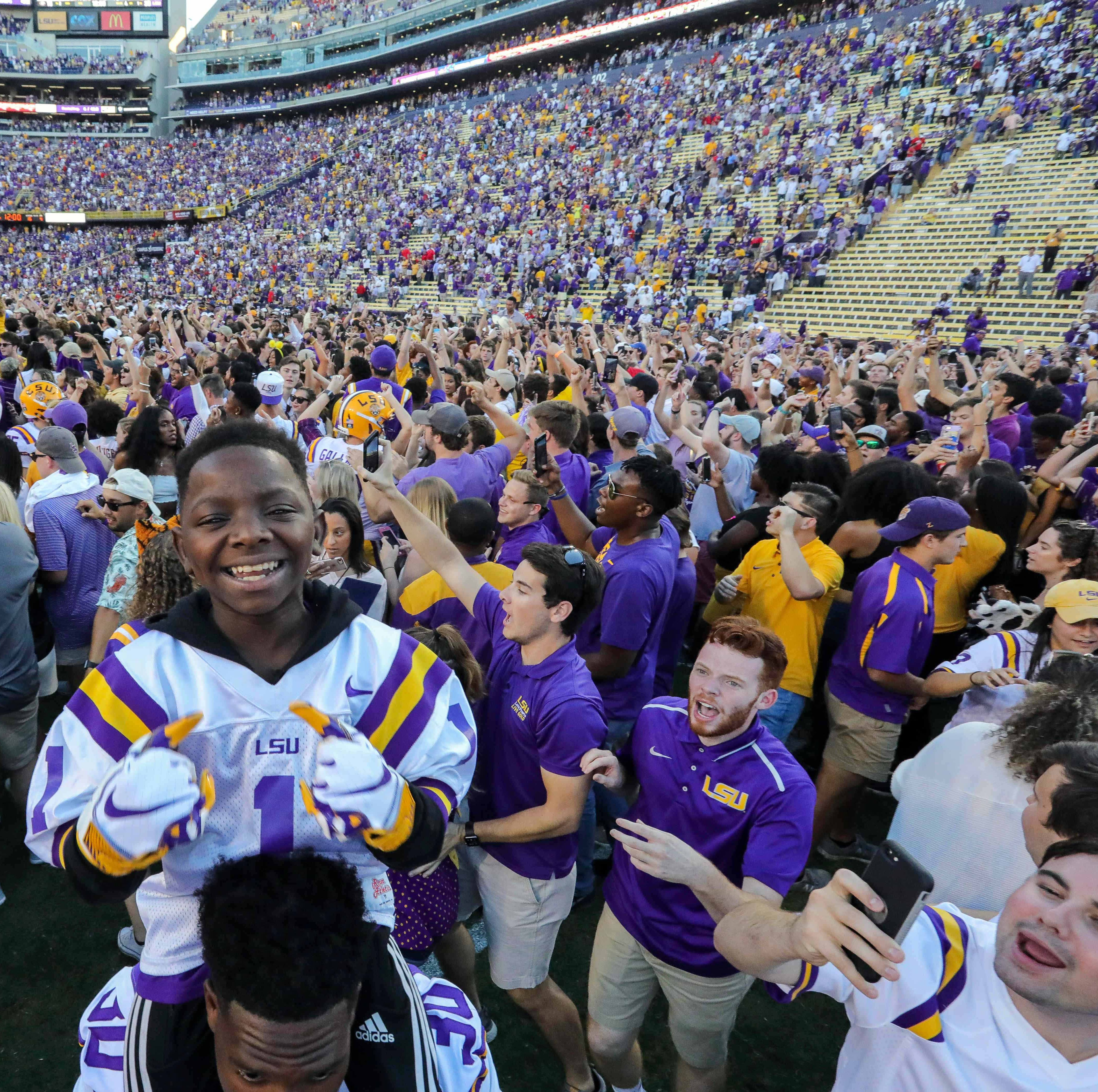 SEC fines LSU $100,000 after fans storm field following Georgia win