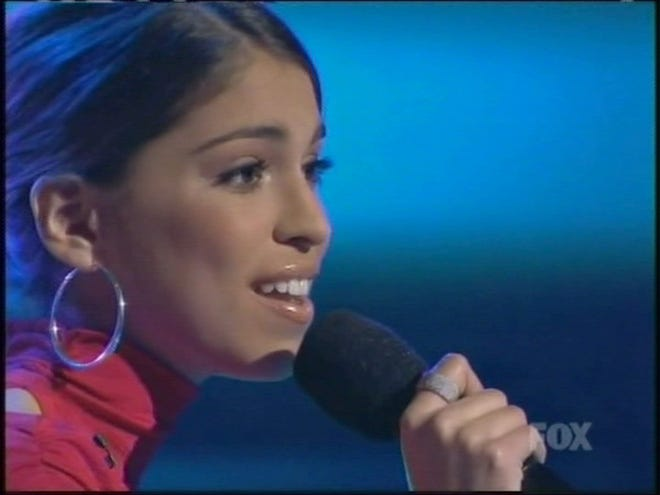 "Former ""American Idol"" contestant Antonella Barba was arrested for distribution of heroin in New Jersey Thursday, according to the Norfolk Sheriff's Office. Here, the singer performs on ""American Idol"" February 21, 2007."