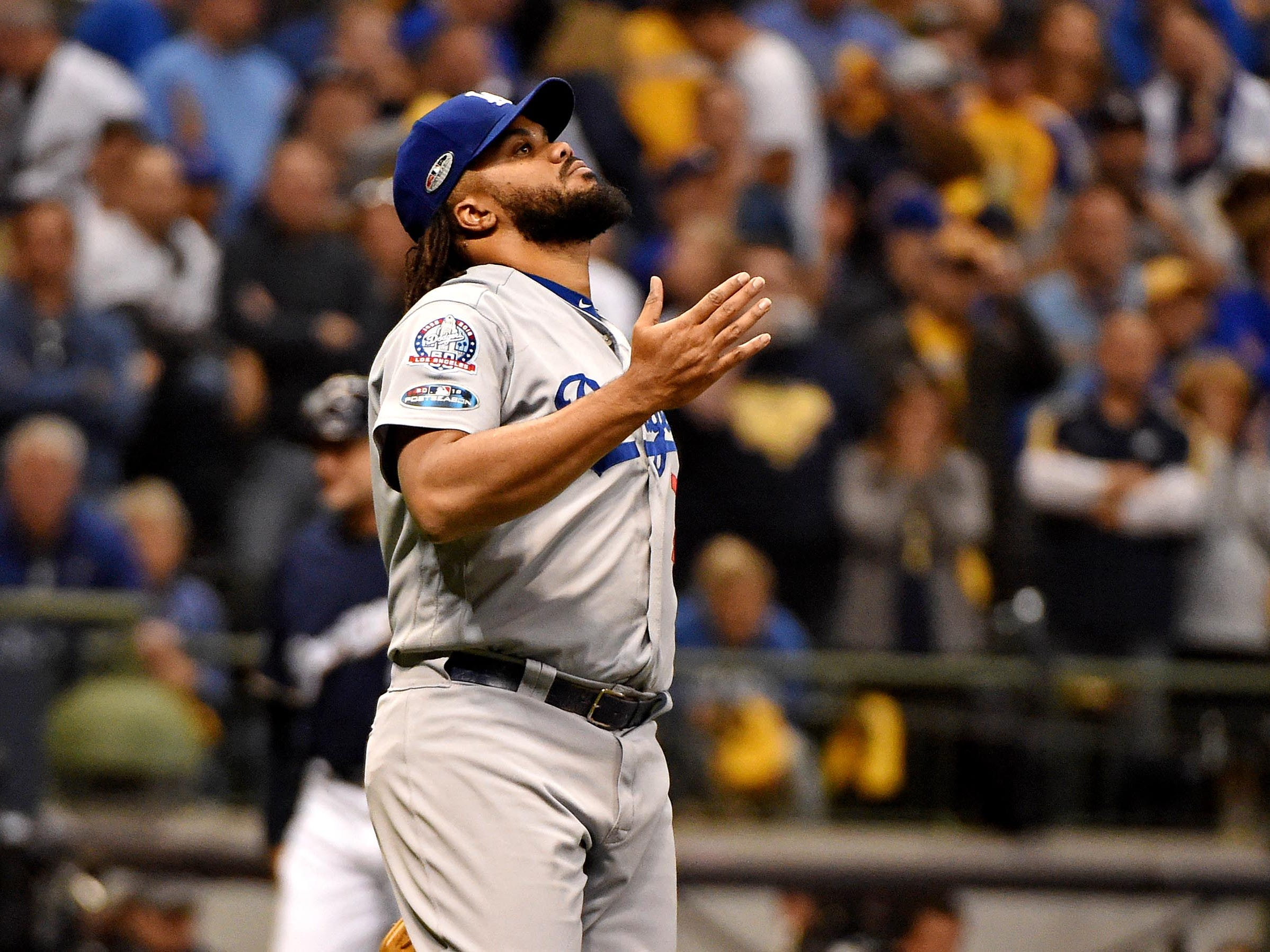 NLCS Game 2: Dodgers closer Kenley Jansen finishes of f the Brewers to even the series.