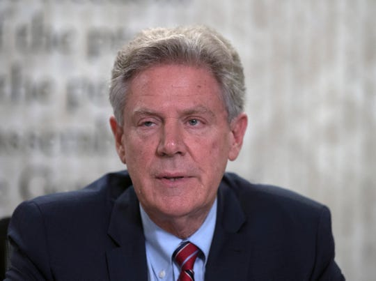 Congressman Frank Pallone answer questions with the Asbury Park Press Editorial Board on Oct. 15, 2018, in Neptune, N.J.