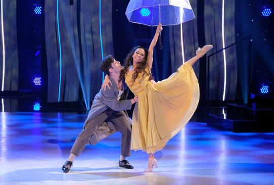 """Top 8 contestants Hannahlei Cabanilla and Cole Mills perform a Broadway routine to """"Get Happy"""" choreographed by Travis Wall on """"So You Think You Can Dance."""""""