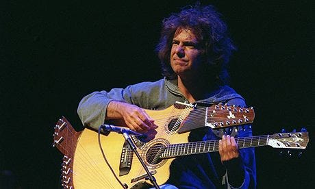 Pat Metheny and his Pikasso guitar.