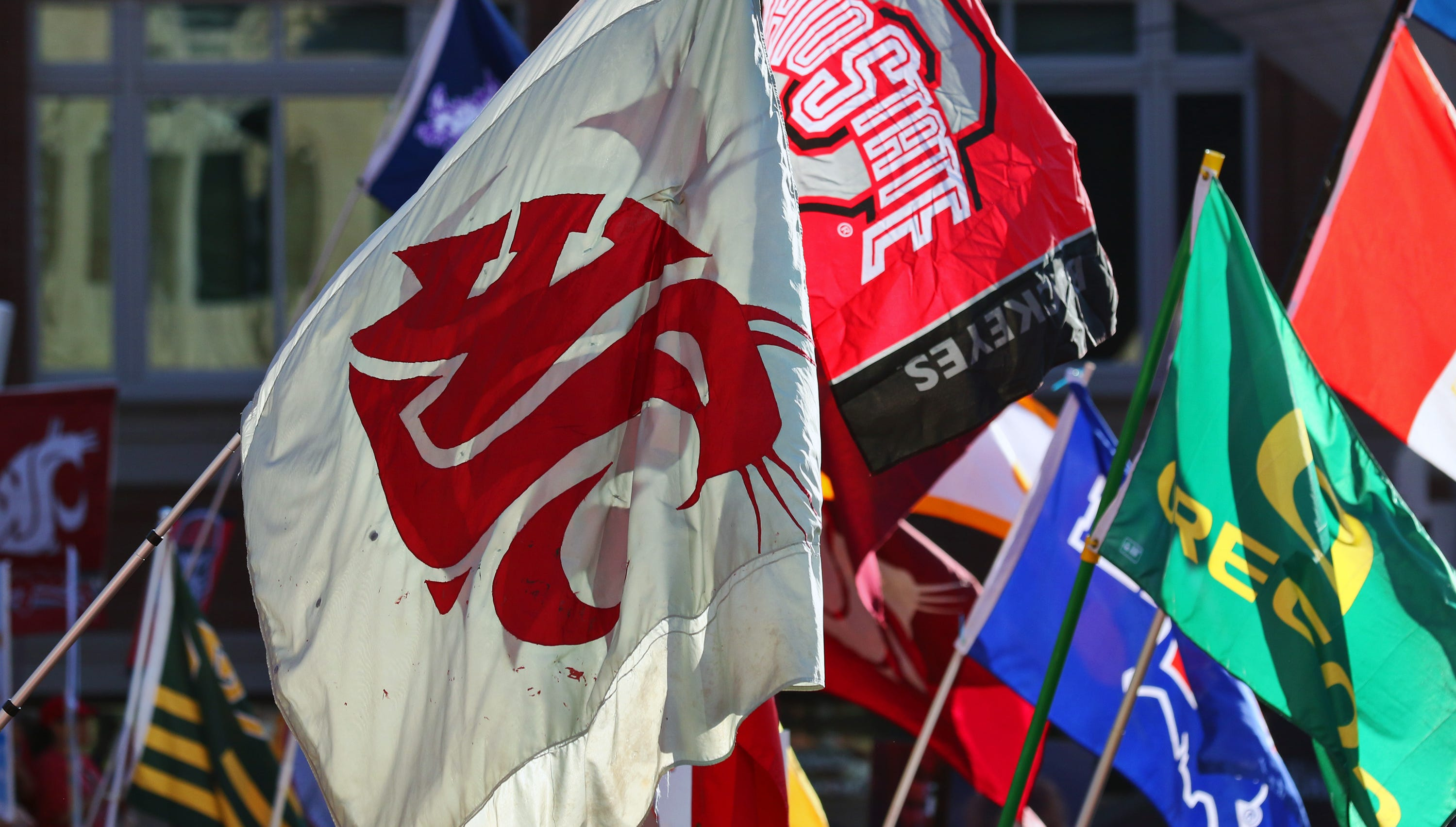 A Washington State flag has flown at every ESPN College GameDay broadcast for 15 years. On Saturday, for the first time, it will do so in Pullman.