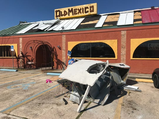 Old Mexico restaurant in Panama City, like almost every business in Bay County, was severely damaged by last week's Hurricane Michael.