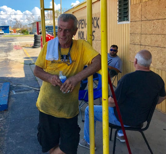 Michael Matti, owner of Royal Used Tire Center in Panama City, had little power but nevertheless opened his business on Monday.