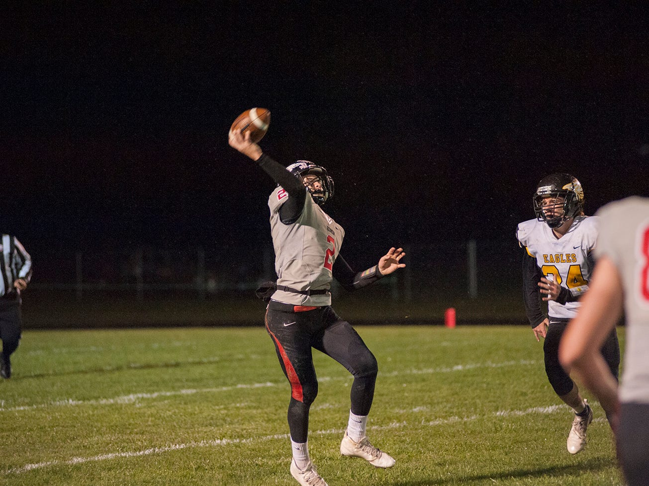Bucyrus' Ben Seibert attempts a pass.