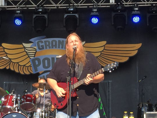 The Seth Yacovone Band, shown performing in September at the Grand Point North festival in Burlington, celebrates its new album with a show Friday, Oct. 26, in Stowe.