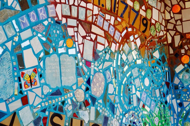 The Isaiah Zagar mosaic mural in Glassboro will provide a selfie backdrop during the pop-up event on Thursday.