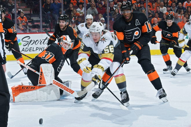 The Flyers did a good job Saturday of boxing out the Vegas Golden Knights and not allowing dangerous chances.