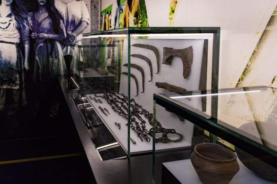 A case of Viking artifacts is on view at The Franklin Institute in Philadelphia as part of its latest special exhibit.