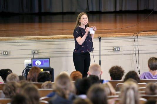 Chelsea Clinton At Colerain Elementary School Oct 15