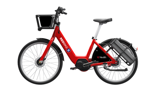 Red Bike has ordered 100 e-bikes. They'll arrive this winter and be ready to ride in spring. They will be the customary red, matching the rest of Red Bike's fleet.